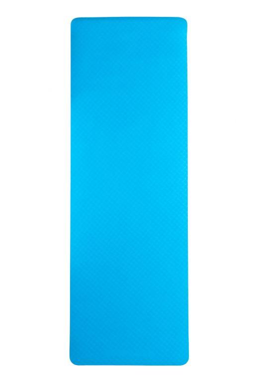 Dvouvrstvá podložka na jógu 183 x 61 x 0,5 cm - MODRÁ
