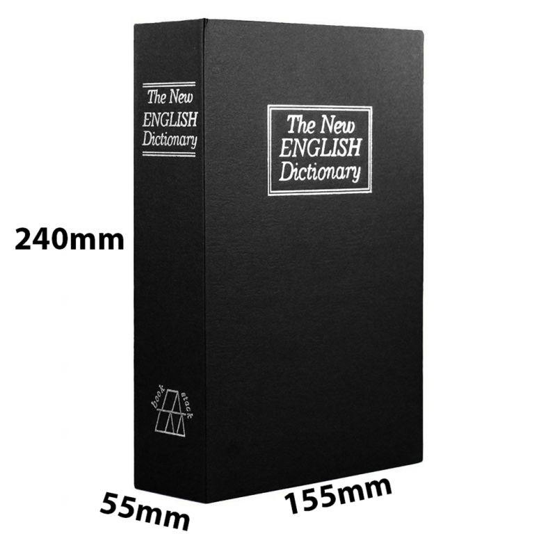 Trezor kniha 240 x 155 x 55 mm – černá