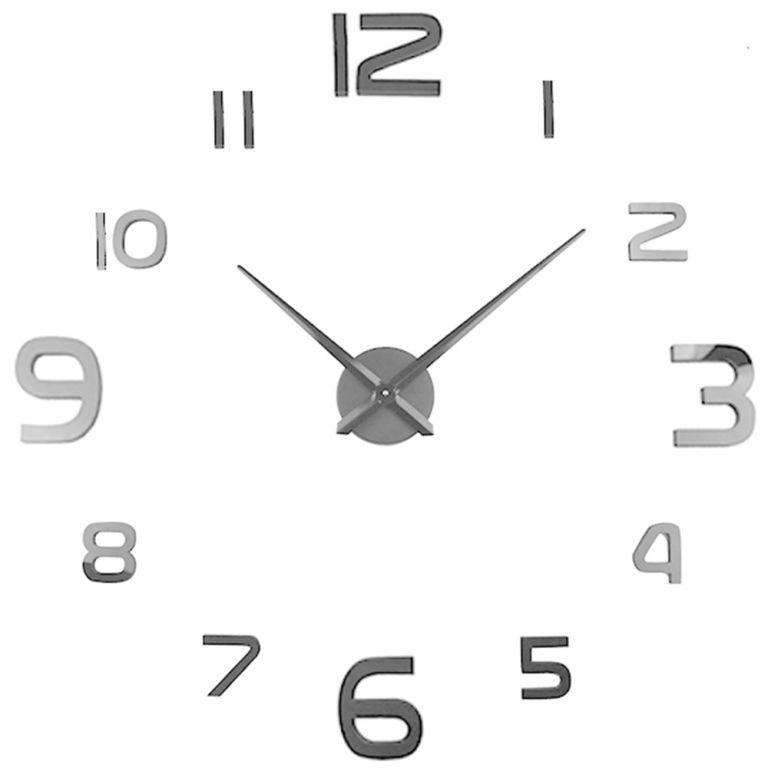 Samolepící nástěnné hodiny Reno