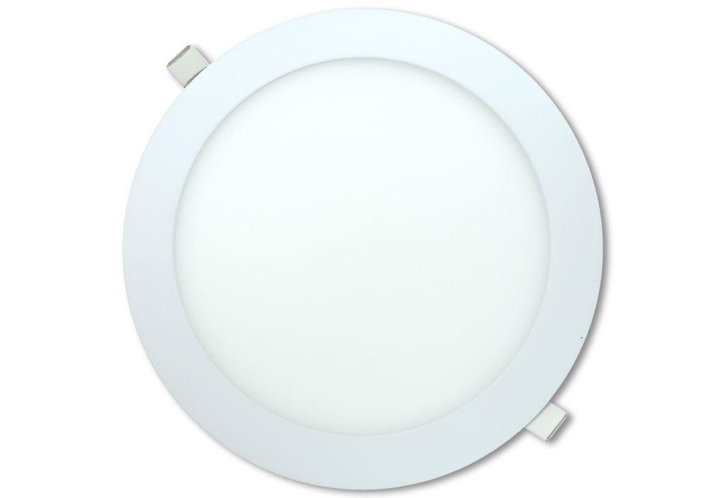 LED stropní panel kulatý 18 W, studená bílá