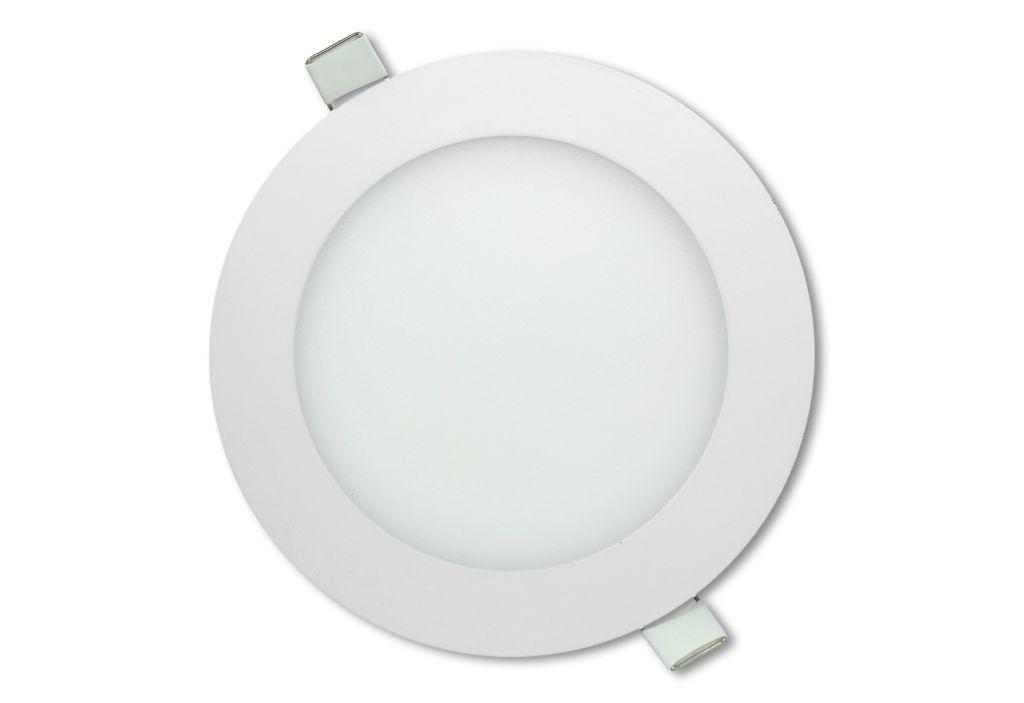 LED stropní panel kulatý 12 W, studená bílá
