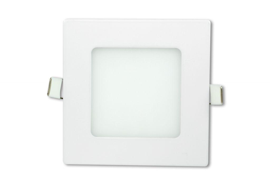 LED stropní panel čtvercový 6 W, studená bílá
