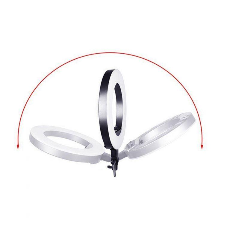 Kruhové světlo o výkonu 75W se stativem a difuzorem