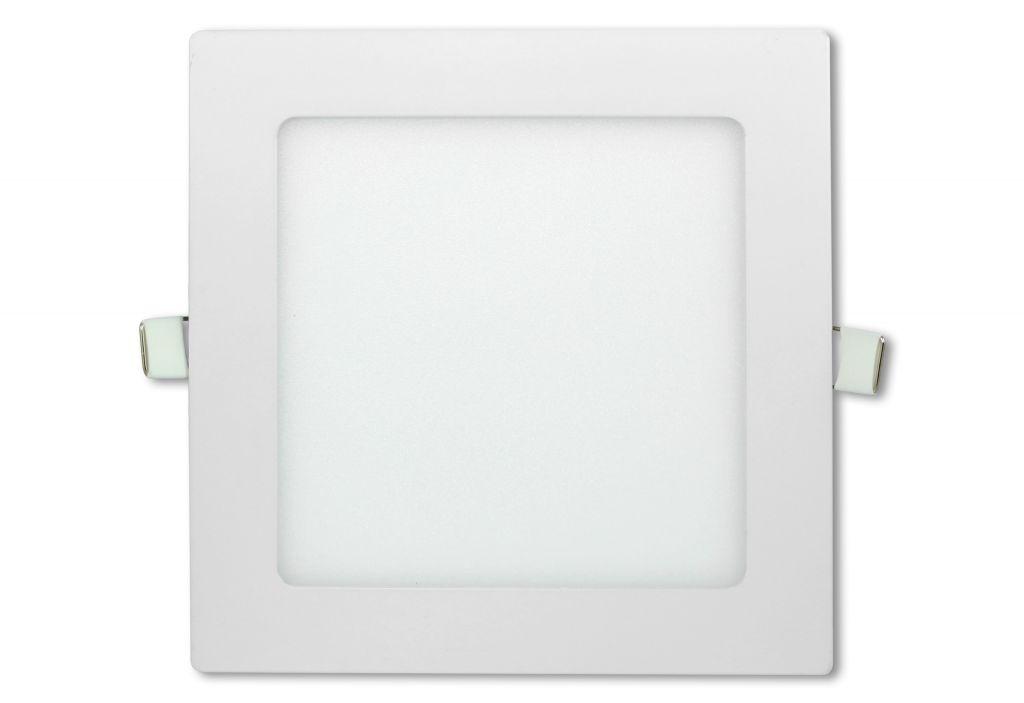 LED stropní panel čtvercový 12 W, studená bílá