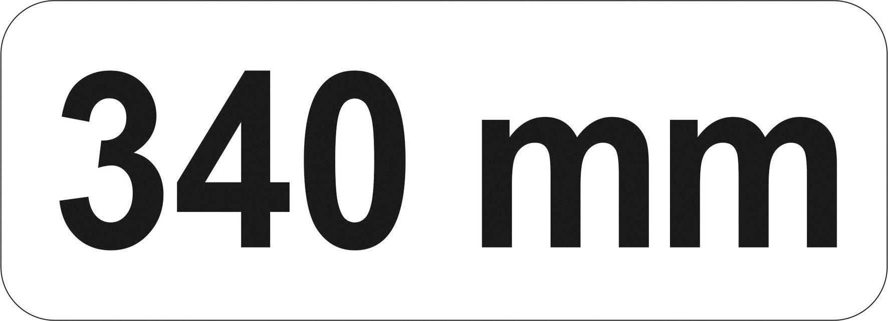 Lopatka sázecí 340 mm chrom