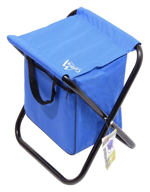 Kempingová skládací židle MALAGA – modrá