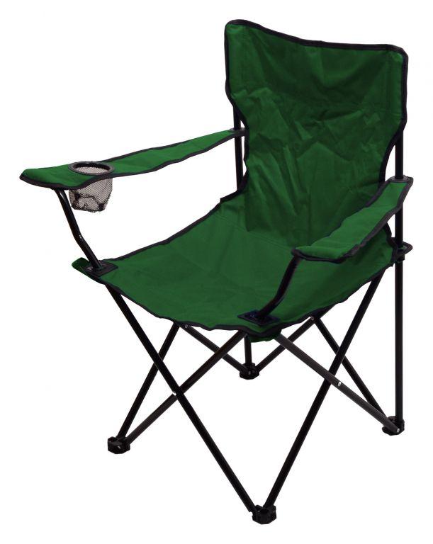 Kempingová skládací židle BARI – zelená