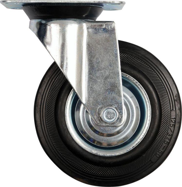 Kolečko otočné, gumové 130 kg, 160/40/195 mm