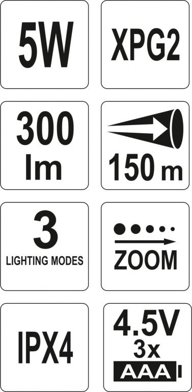 LED svítilna XPG2 CREE - 300 lm