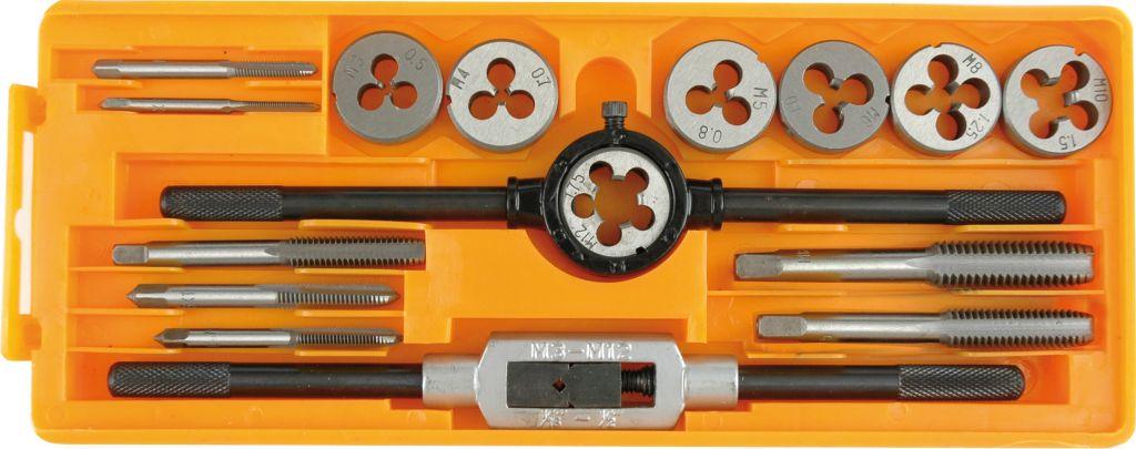 Sada závitníků a kruhové čelisti M3 – M12