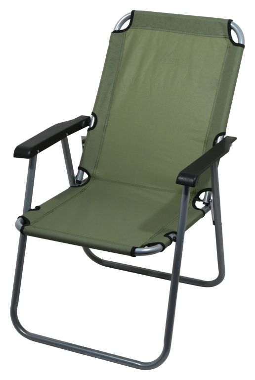 Kempingová skládací židle LYON - tmavě zelená