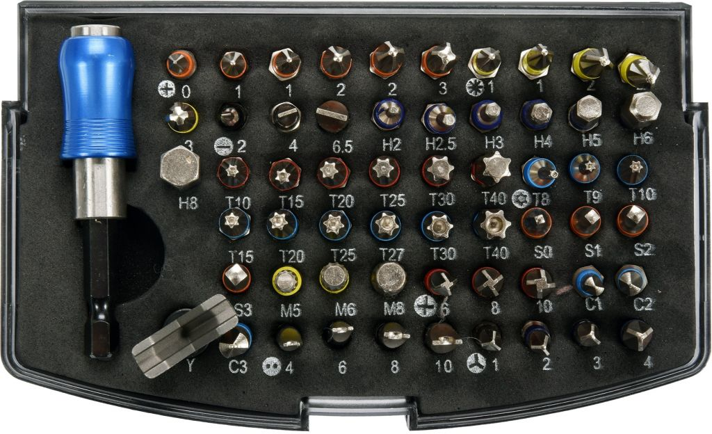 "Sada bitů s adaptérem 1/4"" - 59 ks"