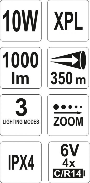 LED svítilna XP-L CREE – 1000 lm