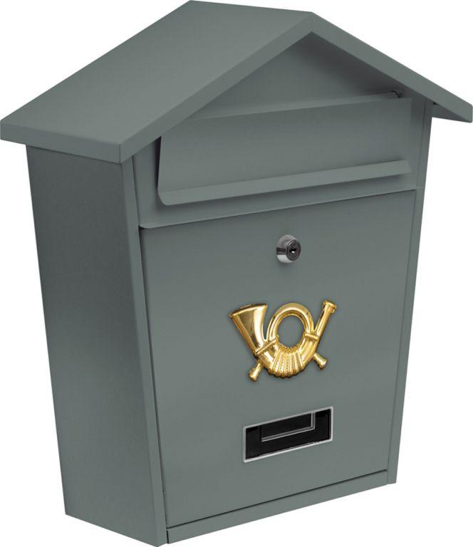 Poštovní schránka se stříškou - šedá