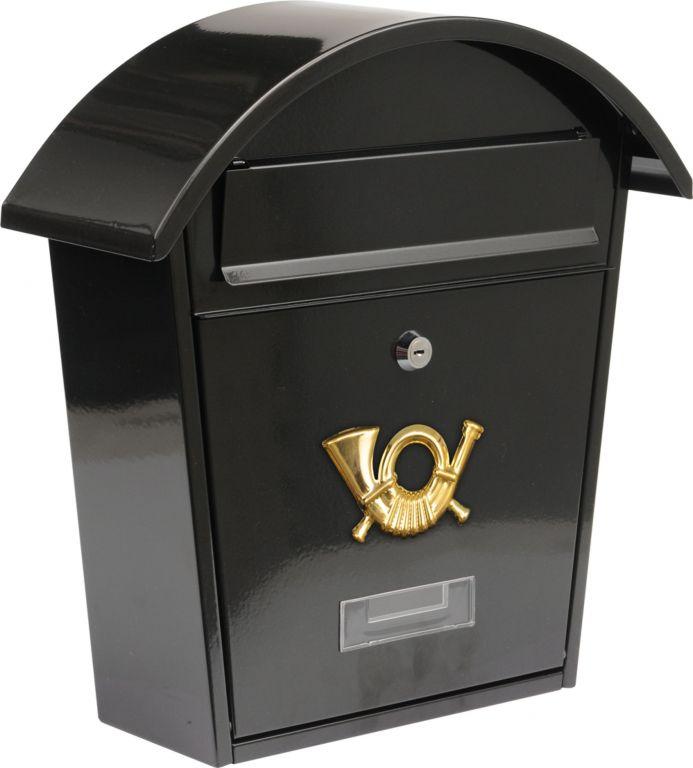 Poštovní schránka se stříškou oblou - černá