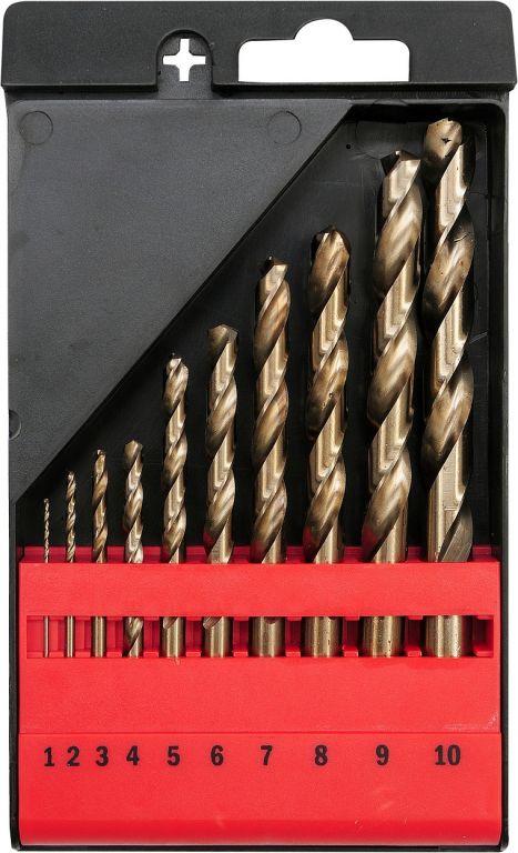 Sada vrtáků na kov - 10 ks, 1-10 mm