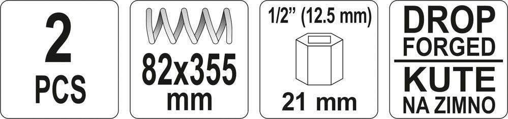 Stahovák pružin tlumičů automobilů 355 x 82 mm 2ks