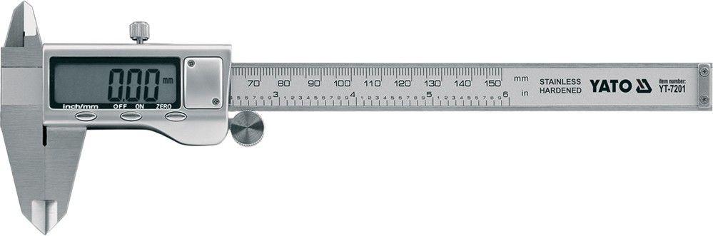 Měřítko posuvné, LCD display, 15 cm