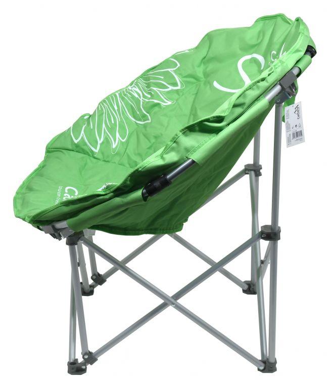 Kempingová skládací židle FLOWERS – zelená