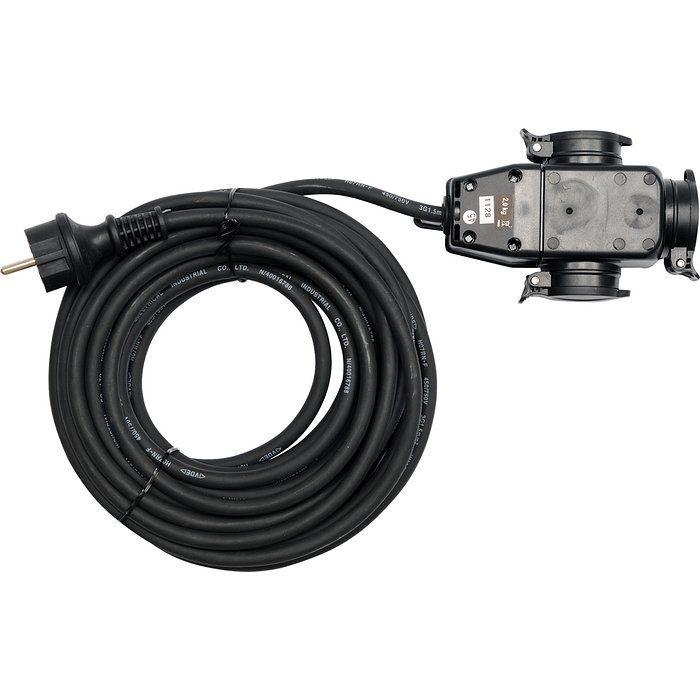 Prodlužovací kabel s gumovou izolací 10 m - 3 zásuvky