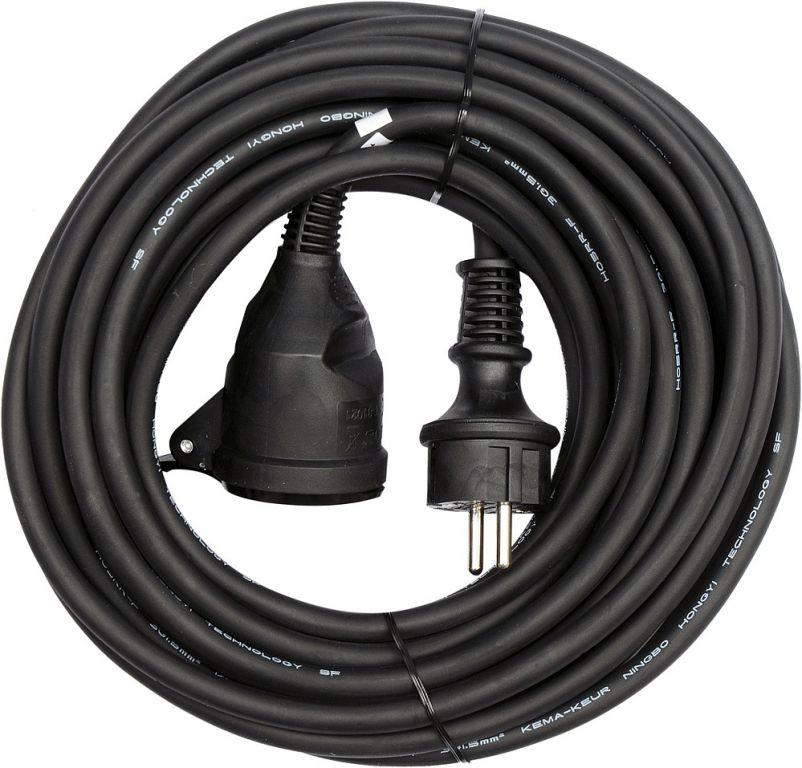 Prodlužovák elektrický s gumovou izolací  16A - 20 m