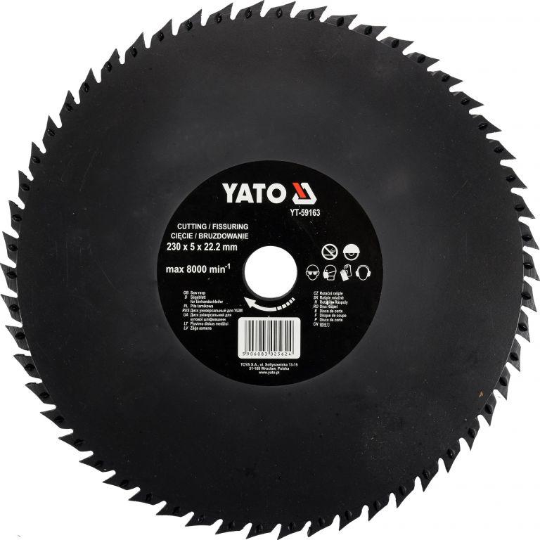 Rotační rašple pilková - 230 mm