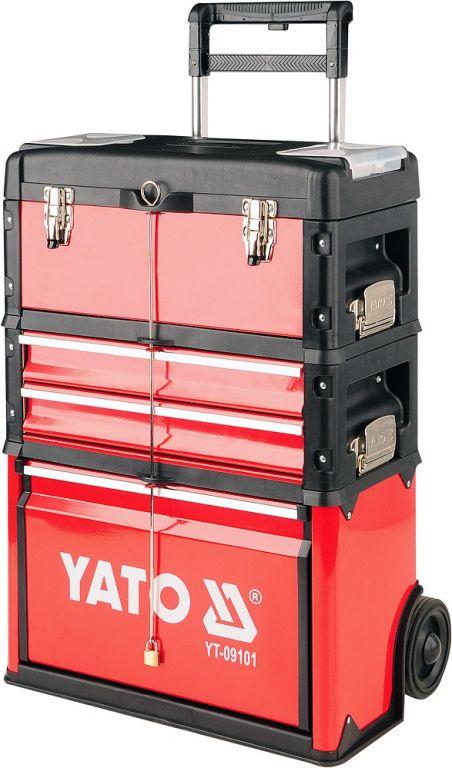 Vozík na nářadí – 3 sekce, 2 zásuvky