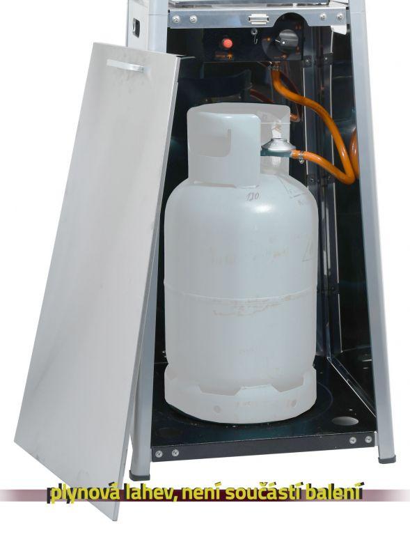 Plynový zářič PAGODA s regulátorem a kolečky