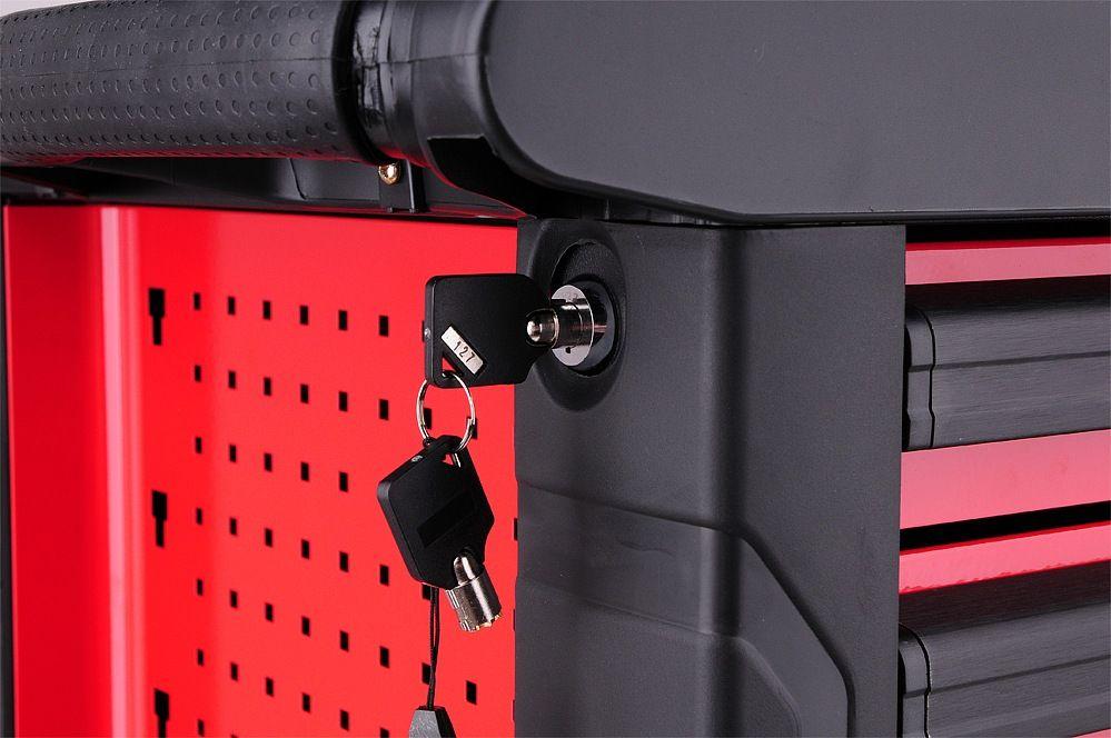Pojízdná dílenská skříňka s nářadím - 6 zásuvek