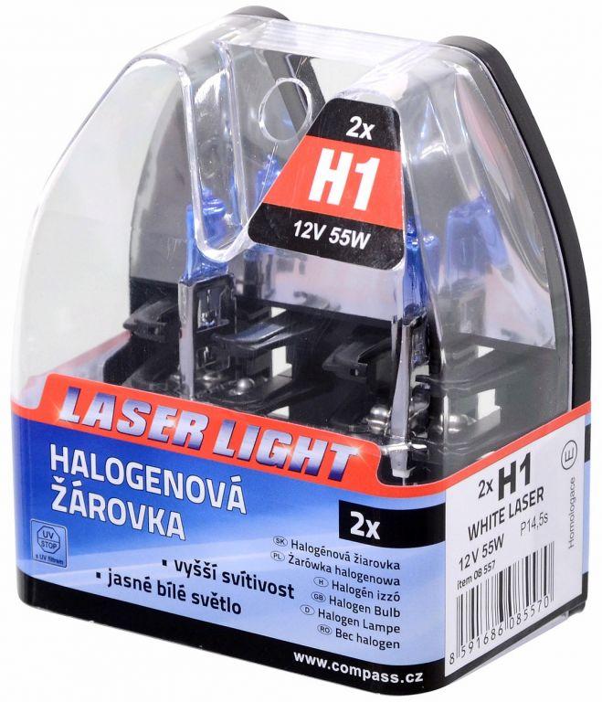 Žárovka 12V H1, 55W P14,5s WHITE LASER - 2ks