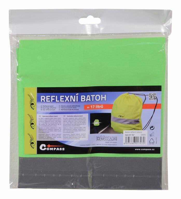 Batoh reflexní S.O.R. – zelený