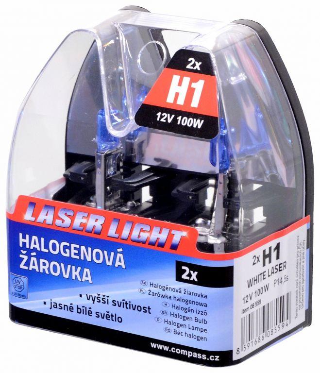 Žárovka 12V, H1 100W P14,5s WHITE LASER - 2ks