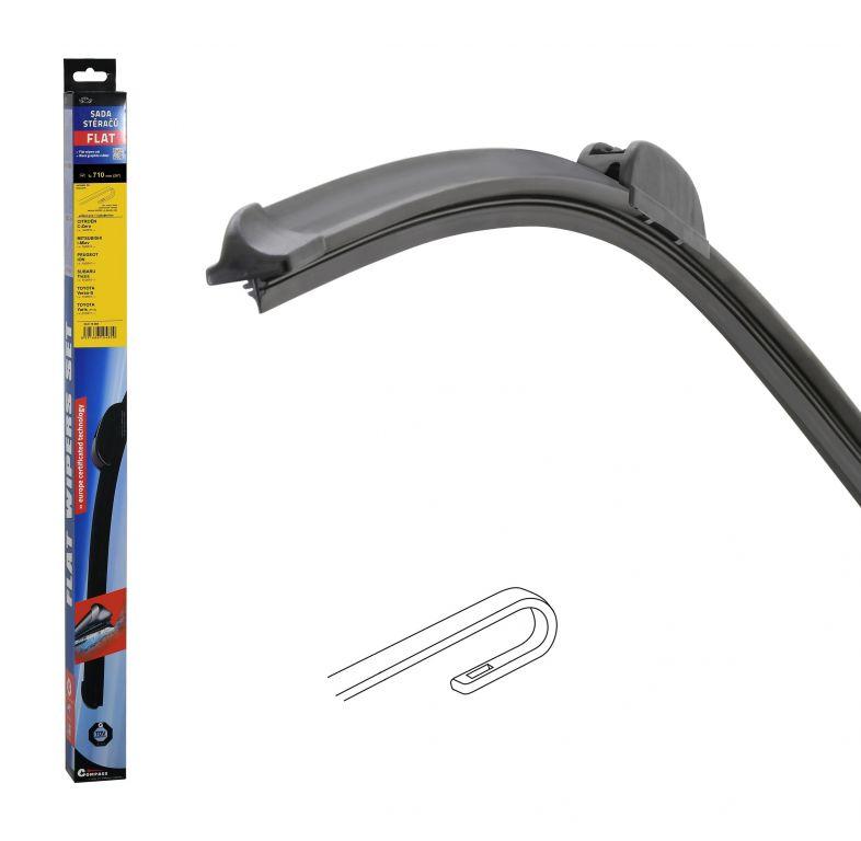 Stěrač Flat set (hook) - 710 mm