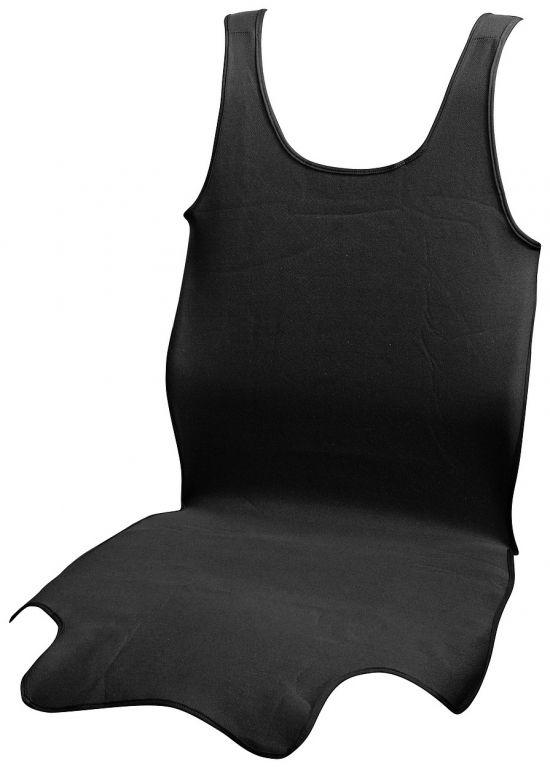 Potah sedadla TRIKO SOFT přední - 1 ks, černý