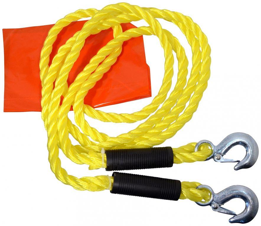 Tažné lano s karabinami - 3,2 m