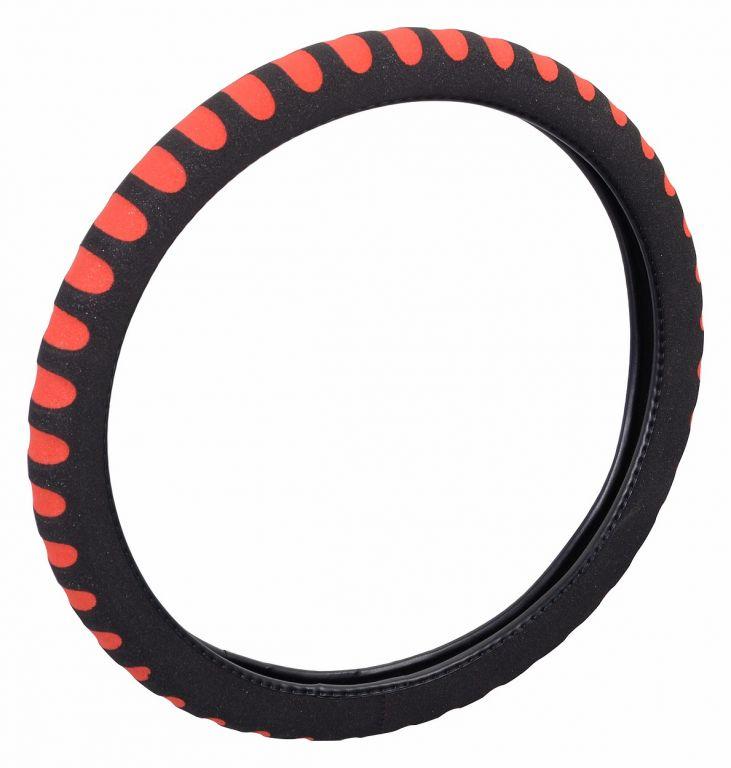Potah volantu SOFT - červený/černý