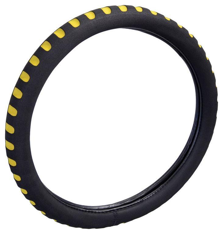 Potah volantu SOFT - žlutý/černý