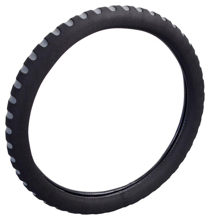 Potah volantu SOFT - šedý/černý