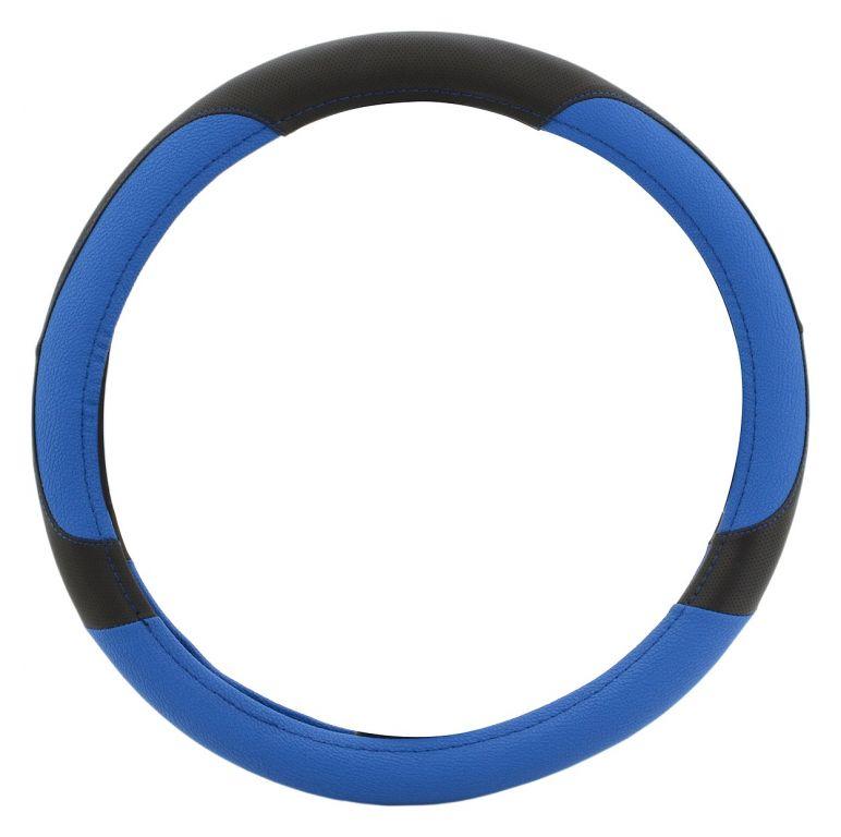 Potah volantu COLOR LINE – modrý/černý