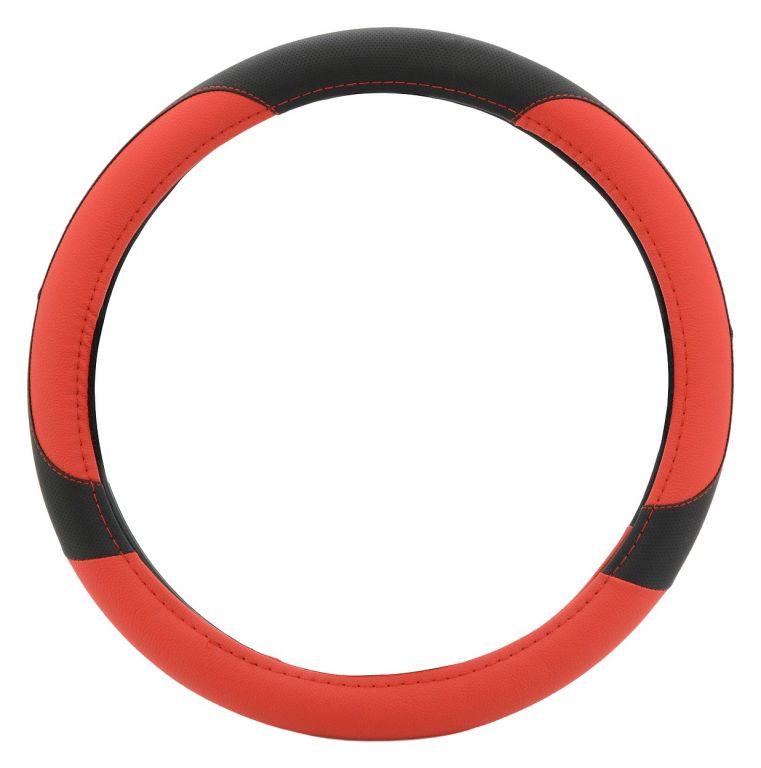 Potah volantu COLOR LINE – červený/černý