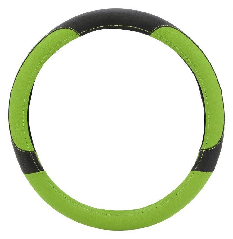 Potah volantu COLOR LINE – zelený/černý