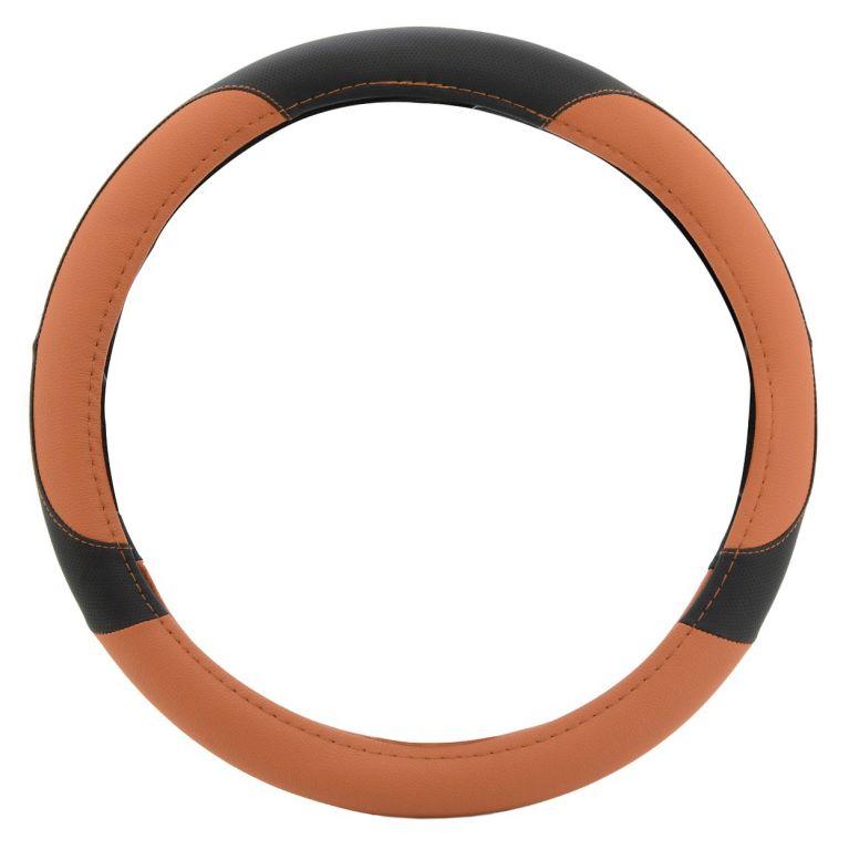 Potah volantu COLOR LINE – oranžový/černý
