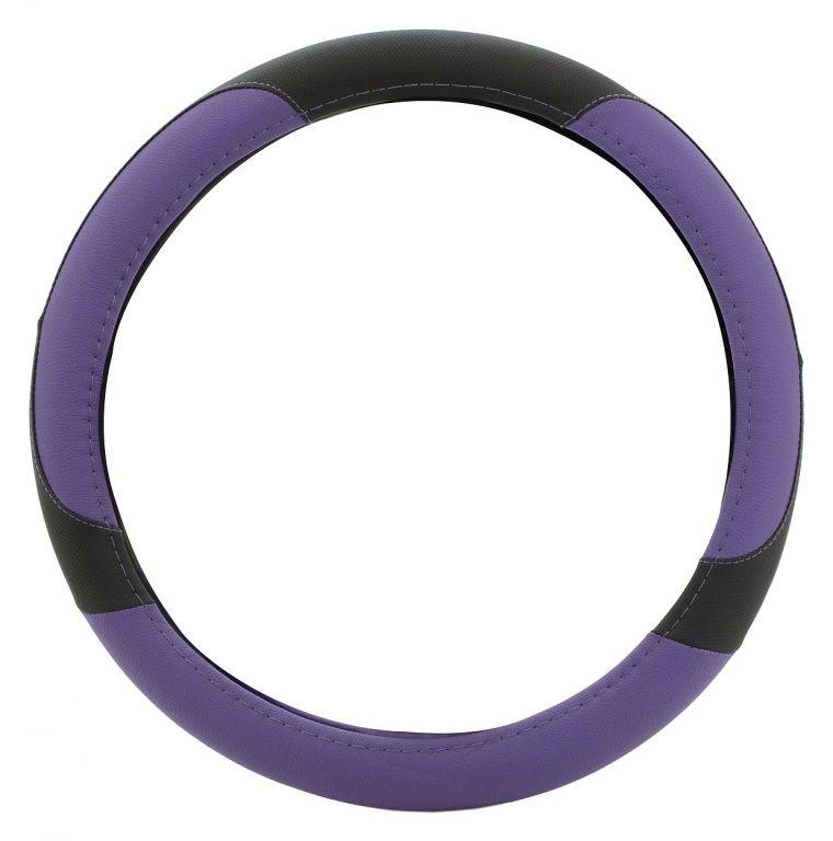 Potah volantu COLOR LINE – fialový/černý