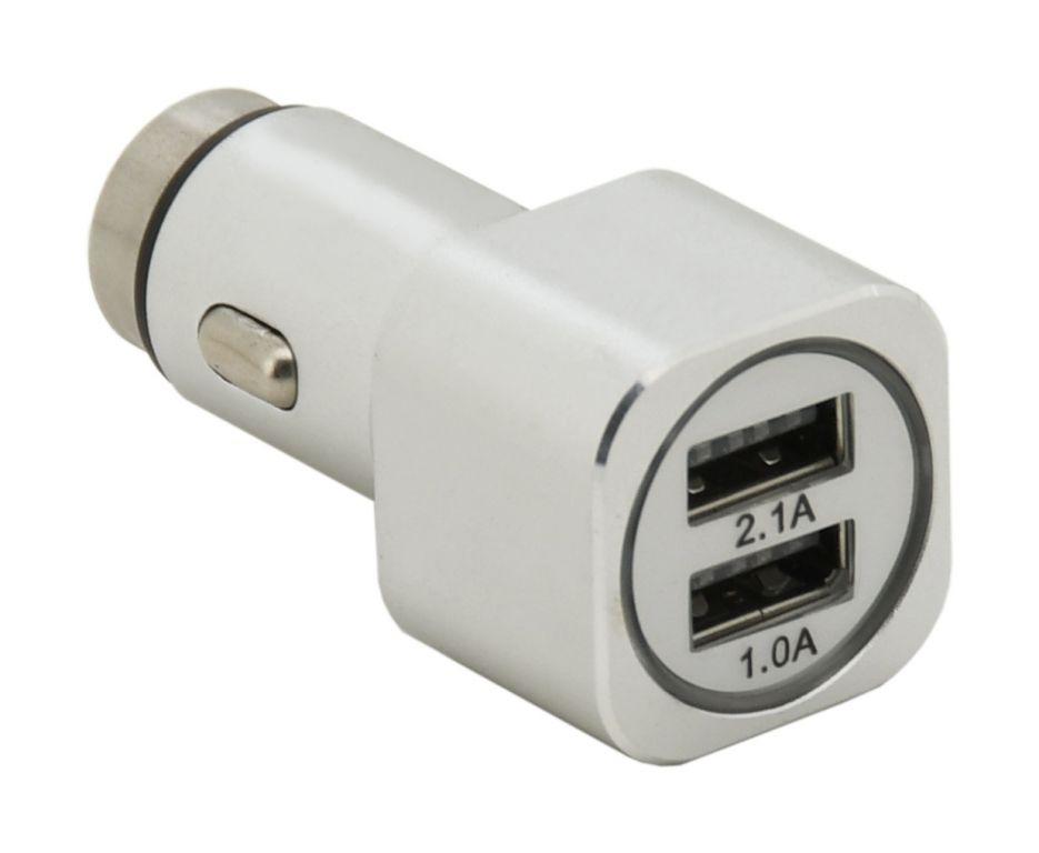 Kovový adaptér na nabíjení –  2 x USB