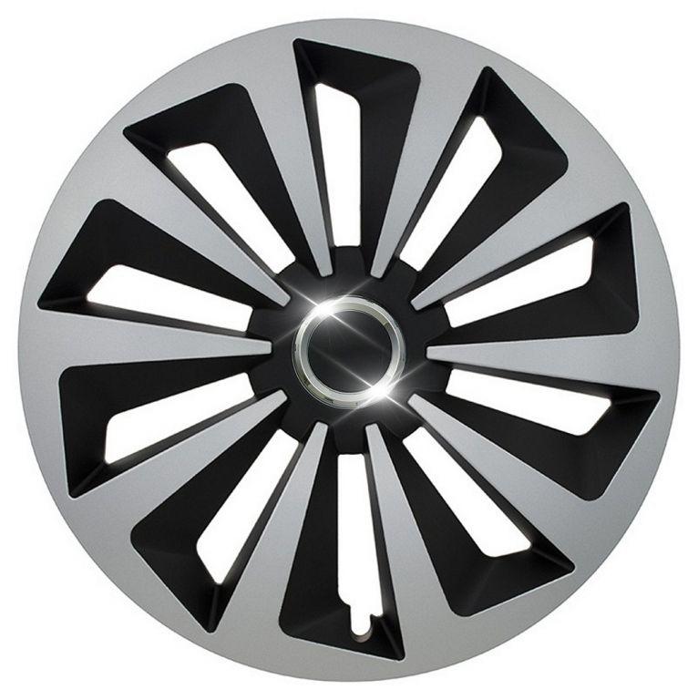 """Kryt kola Fox Ring 14"""", jeden kus - černo/stříbrná"""