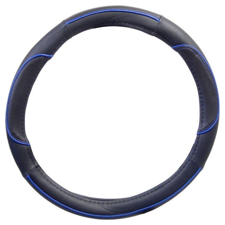 Potah volantu WAVE – modrý/černý
