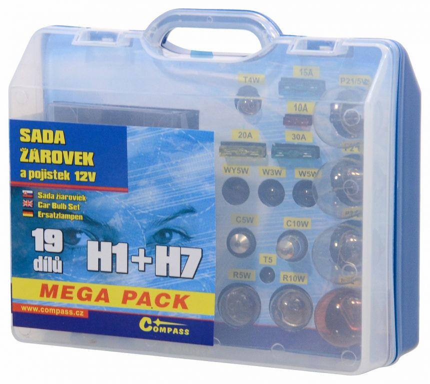 Servisní box 12 V žárovek – H1 + H7 + pojistky