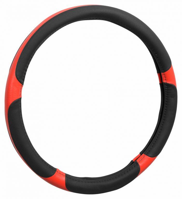 Potah volantu GRIP - červený/černý