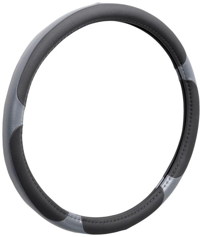 Potah volantu GRIP LARGE - šedý/černý