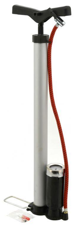 Hustilka ruční – 510 x 35 mm, ALU s manometrem